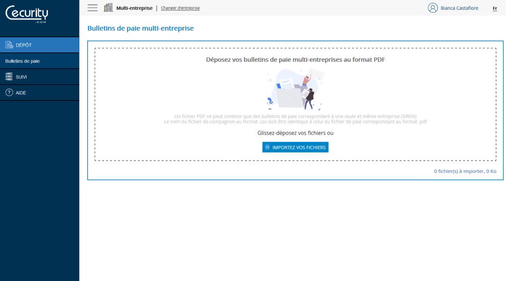 ePaie Expert comptable étape 1 - collecte de bulletin